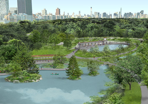 Central Park Conservancy Unveils Design to Build New Pool and Rink and Complete the Restoration of The Park's North End Through $150 Million Project with The City of New York