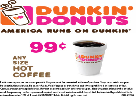 Dunkin' Donuts 31080 Orchard Lake Rd. Farmington Hills, MI 48334 Deal Image