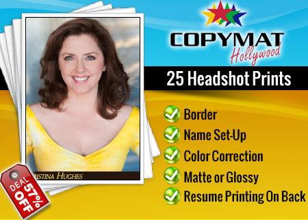 Headshot printing with resume on back