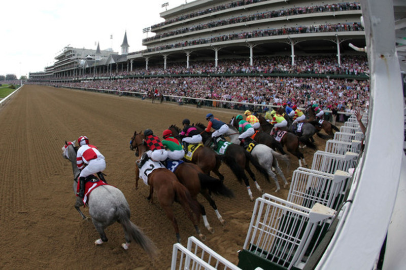2014-Kentucky-Derby-Grandstand-Green-Seating