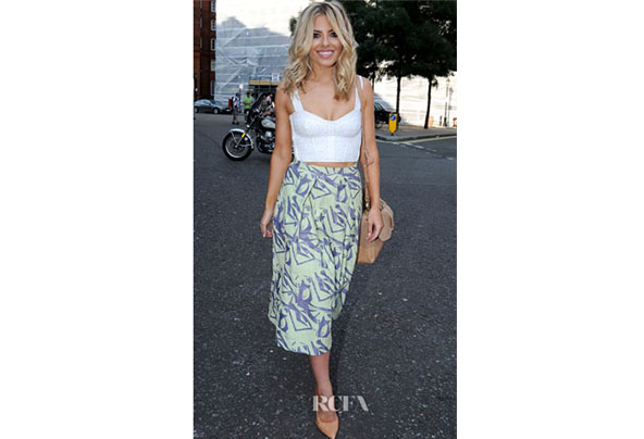 Mollie kings asos midi skirt in abstract jacquard