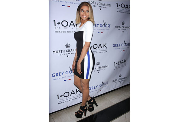 Ciara celebrates 5th album release at 1 oak nightclub wearing mason by michelle mason tri color dress 5 e1373288327500