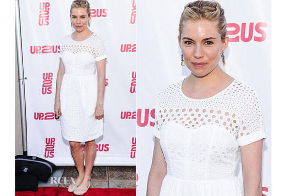 Sienna miller in burberry up2us gala