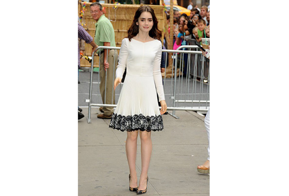 Lily collins gma