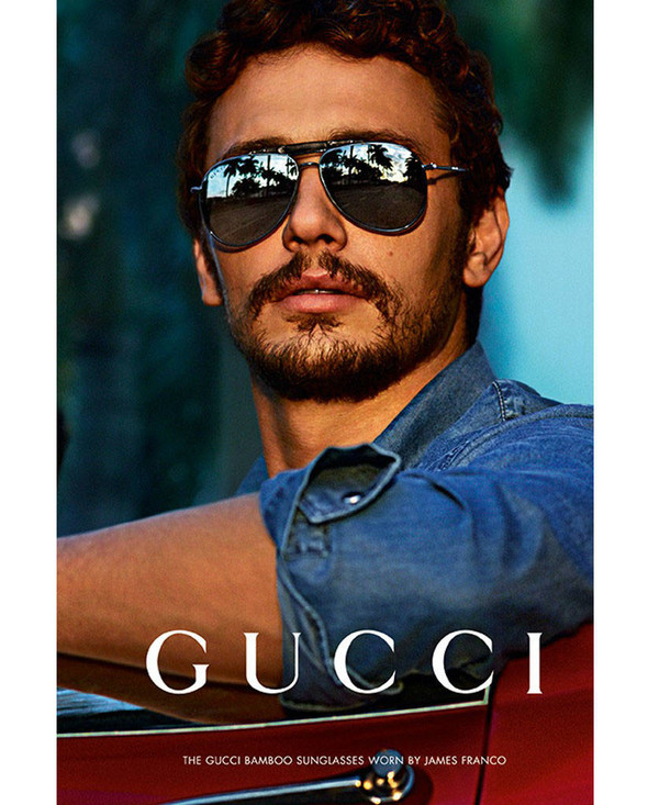 James franco for gucci eyewear fall winter 2013 2014 campaign by mert marcus