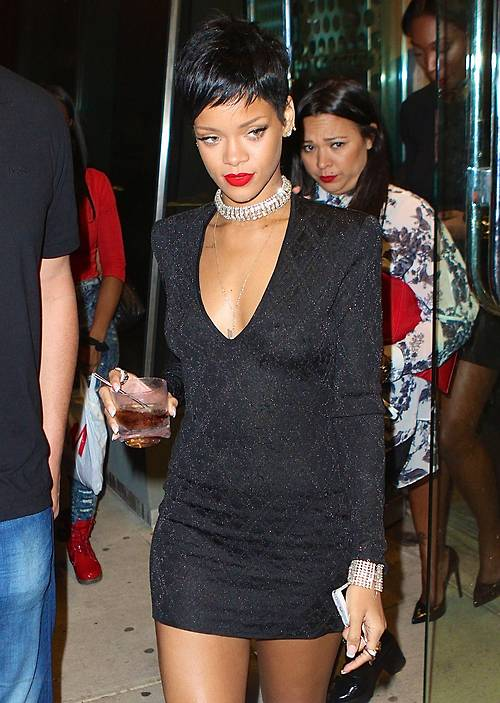 Rihanna vmas 2013 after party balmain dress