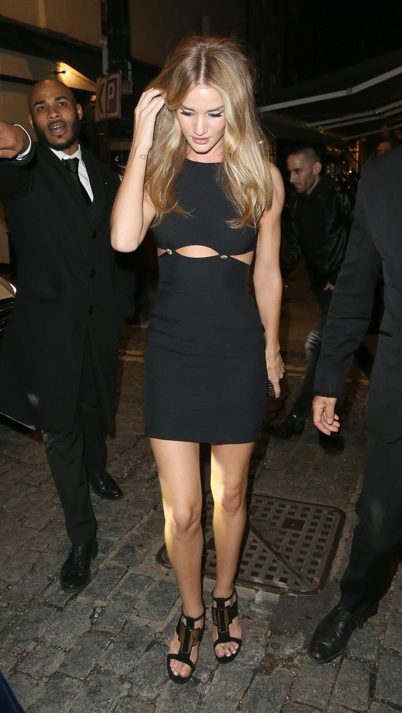 Rosie huntington whiteley in versus versace another magazine party lfw 5