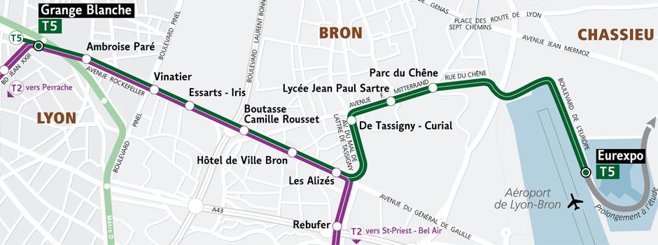 Grange blanche vers eurexpo la ligne t5 guide des quartiers de lyon par estimmoclic - Hotel lyon grange blanche ...