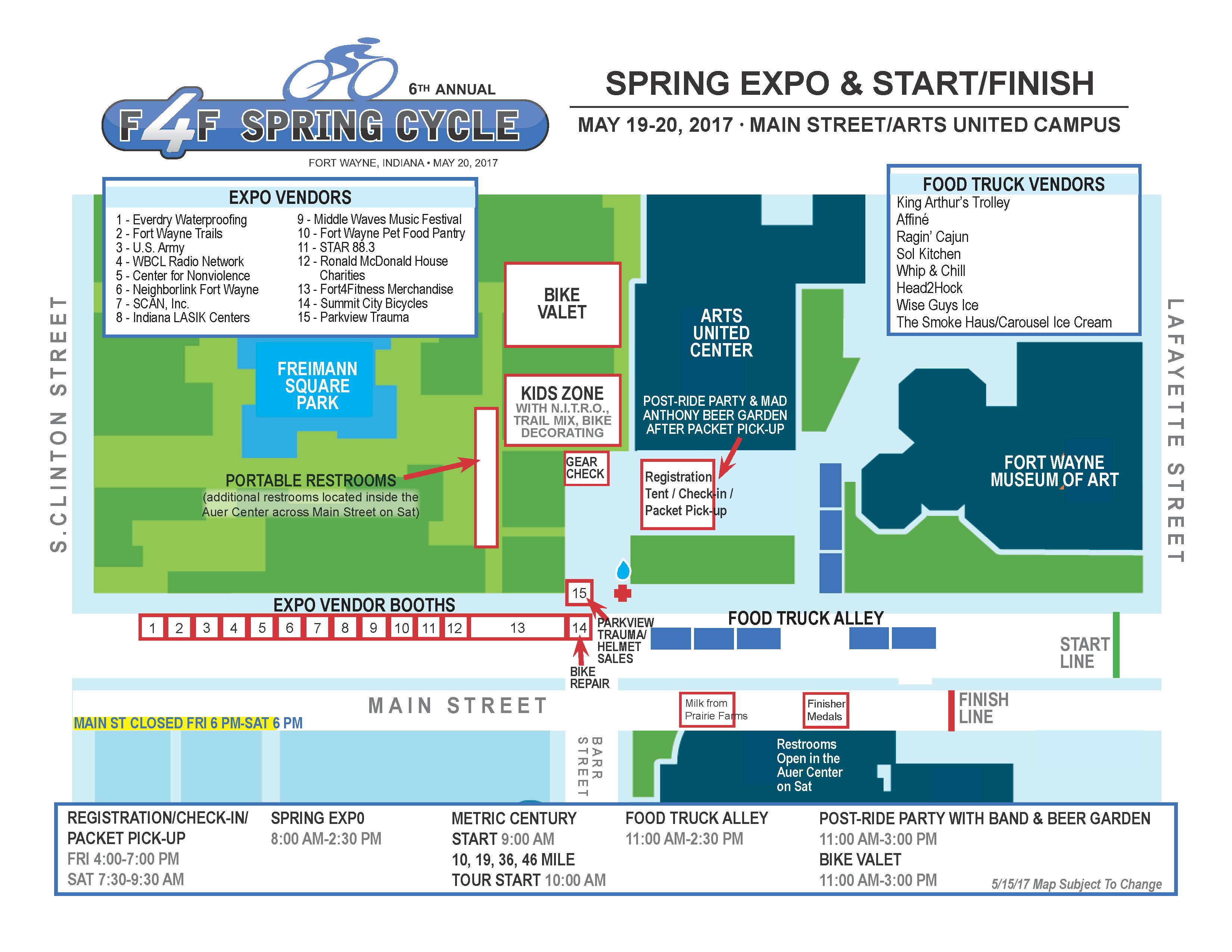 Spring Cycle Travel and Parking Information | Fort4Fitness