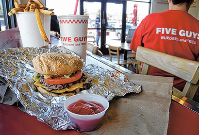 Five Guys Burgers and Fries March 22, 2013. Photo by Jeff Kearney