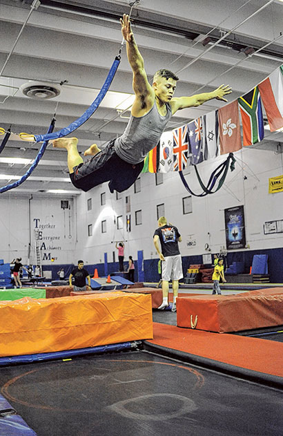 Trampoline World Friday March 14, 2014.  Photo by Jeff Kearney