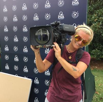 Camerawoman at the PGA Championship