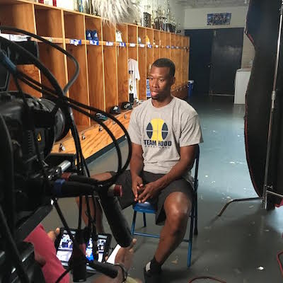 Atlanta Video Camera Crew with Rodney Hood and Turner Sports