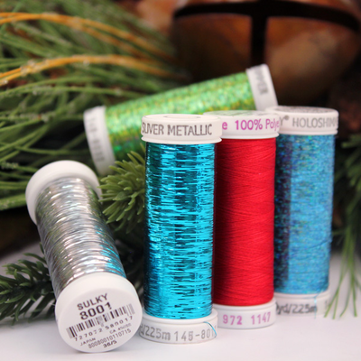 Christmas Tree Skirt Thread Set - 5 Colors