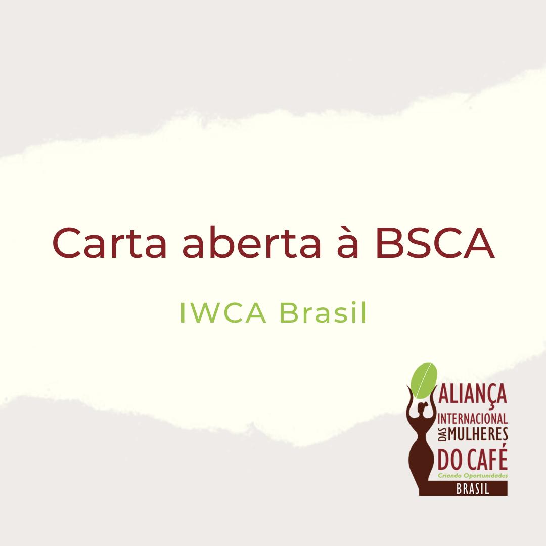 .: Carta aberta à BSCA :.