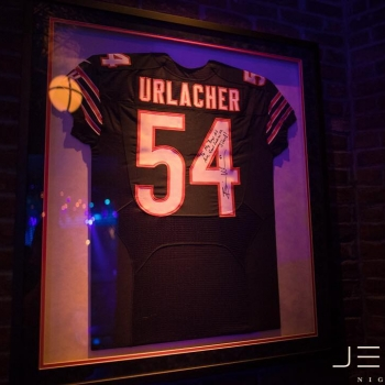 Good luck to the #ChicagoBears tonight! Stop by #JEWELNightclub afterwards and check out the autographed #BrianUrlacher jersey hanging in our VIP Skybox: The G.O.A.T.!