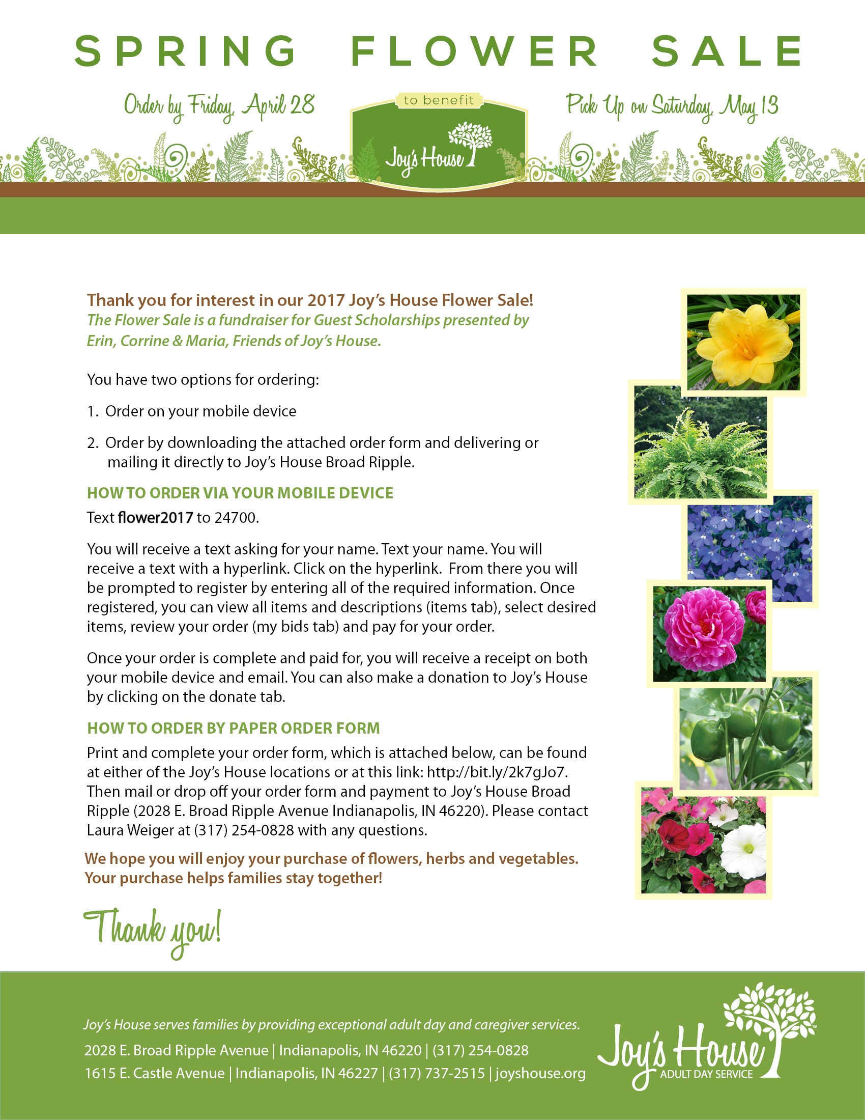 Spring Flower Sale 2017