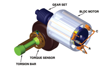 Electronic Power Steering on alternator parts diagram