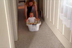 Laundry basket run