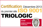 Certification ISO 9001 pour TrioLogic