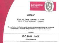 Mu-TEST is ISO 9001 : 2008 Certified