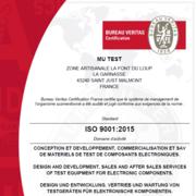 Mu-TEST is ISO 9001 : 2015 Certified
