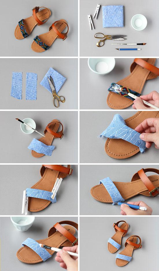 Как переделать старые туфли своими руками 46