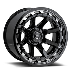 Gear Offroad Wheels 754MB - Gloss Black with Machined Face Rim