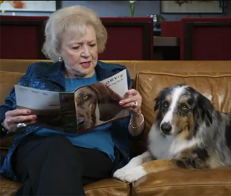 Betty White and her dog