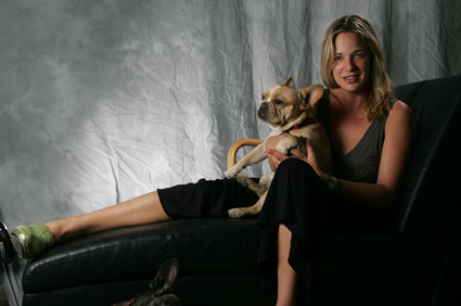 Patty Khuly and her dog