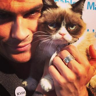 Ian Somerhalder and Grumpy Cat