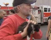 Kitten rescued from pipe