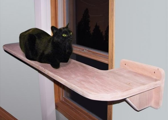 Cat Shelf Stairs Long