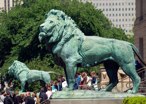 Chicago Art Institute Lions