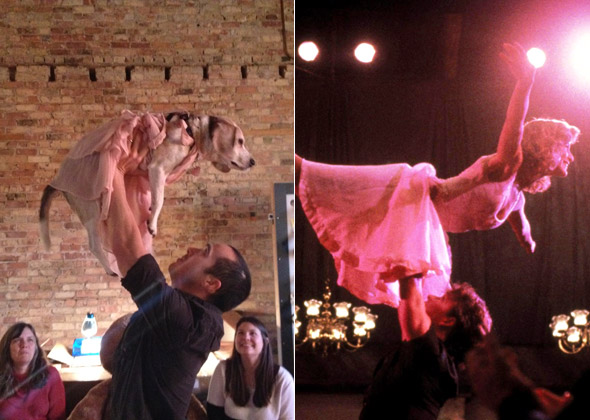 Dog reenacts scene from 'Dirty Dancing'