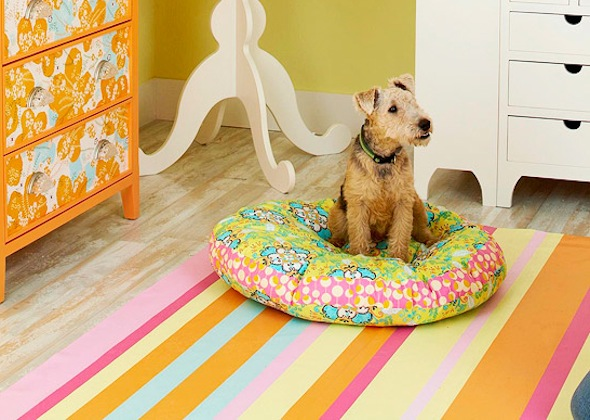 DIY pillow dog bed