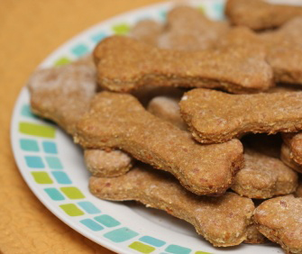 Plate of homemade dog treats