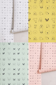 Dog wallpaper from Anthropologie