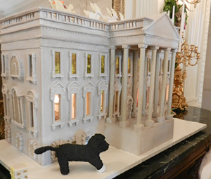 Bo Obama and Gingerbread House