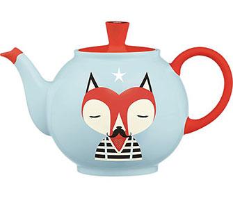 tea pot with a fox