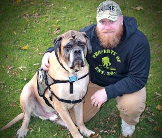 Marine turns rescue dog into service dog
