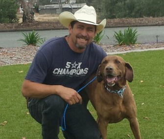 Brownie was happy to be reunited with his owner in San Diego.