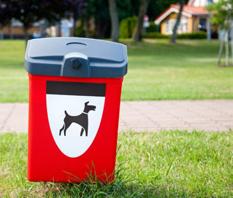 Dog waste basket