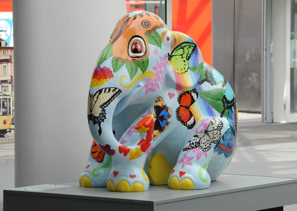 floral butterfly elephant statue
