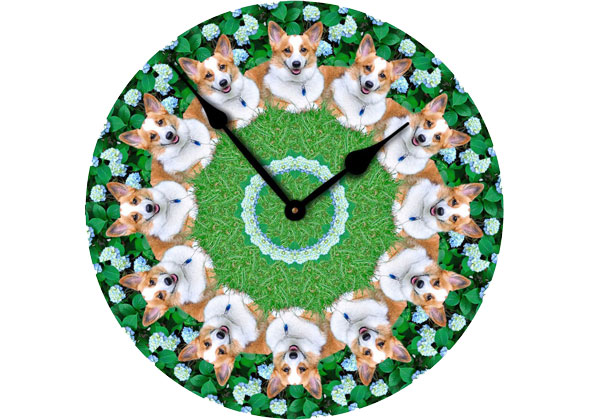The Clock Lady Corgi Clock
