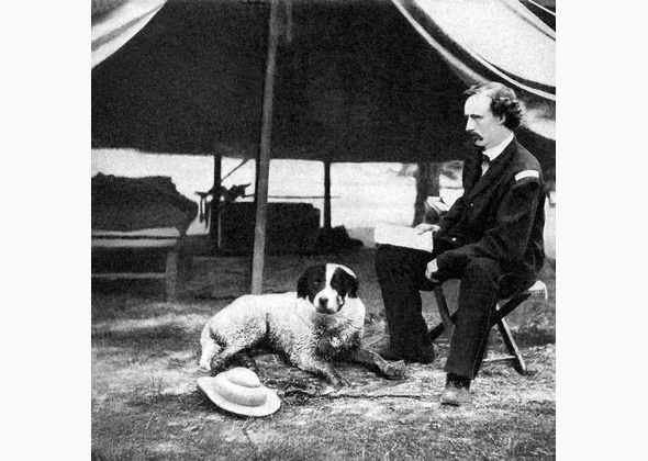 Civil War dog with George Custer