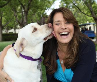 Lorraine Bracco and Dog