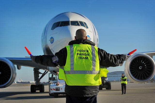 panda express plane lands