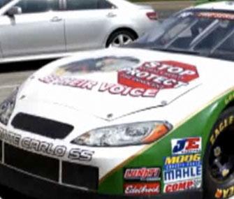 NASCAR driver Jack Sellers' car