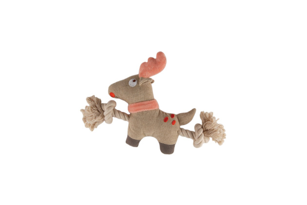 Simply Fido Holiday Reindeer Rope Toy